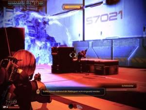 Mass Effect 2 : Warten Sie mit der Zerstörung des Schutzschildes, bis alle Wachen erledigt sind.