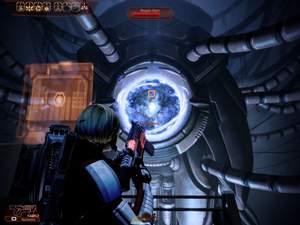 Mass Effect 2 : Der Kern ist nur verwundbar, wenn er so offen liegt.