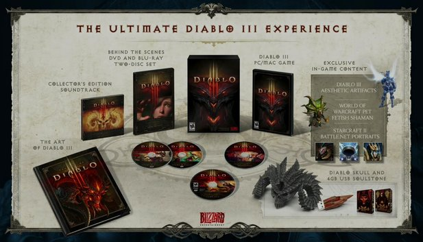 Diablo 3: Inhalte der Collectors Edition.