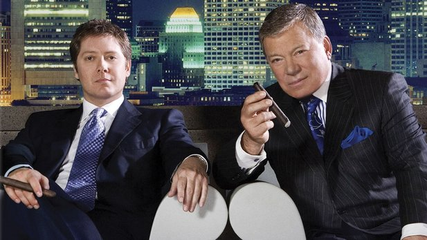 James Spader und William Captain Kirk Shatner in Boston Legal
