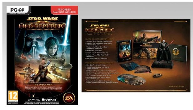 So sieht die Collector's Edition von Star Wars: The Old Republic aus.