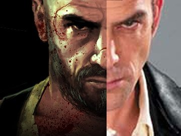 Links: MP3 Poster; Rechts: Tim Gibbs aus Max Payne 2.