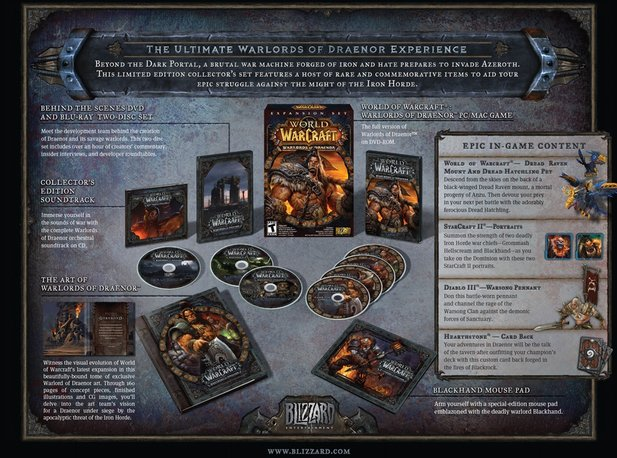 Die Collector's Edition von World of Warcraft: Warlords of Draenor enthält zahlreiche Extras.