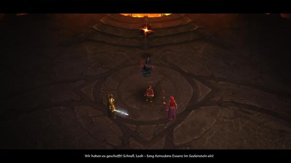Diablo 3 - Komplettlösung : Leah nimmt Azmodans Seele mit.