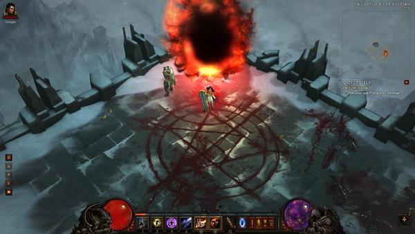 Diablo 3 - Komplettlösung : Über dieses Portal kommen wir in den vierten Akt.