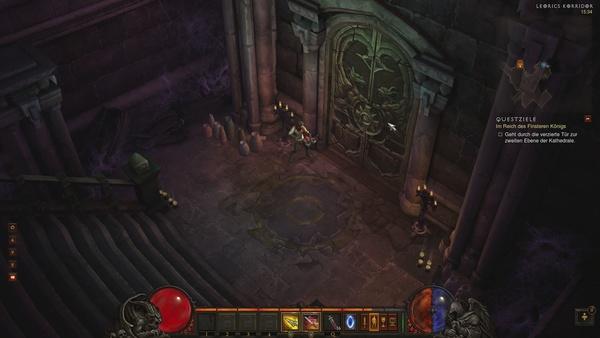 Diablo 3 - Komplettlösung : Die Türe zum Reich des Finsteren Königs.