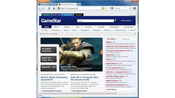 Bild der Galerie Firefox 4 Beta - Screenshots