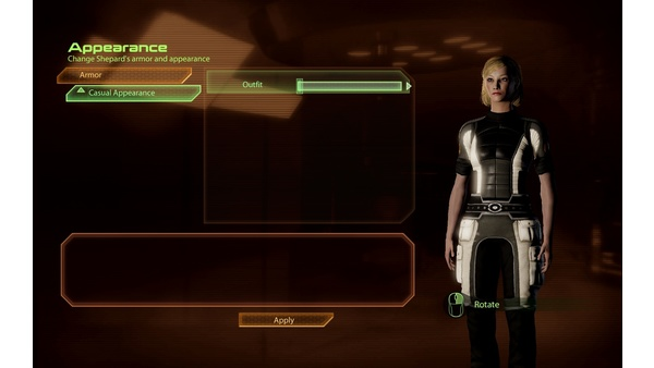 Screenshot zu Mass Effect 2 - Die Outfits im Bild