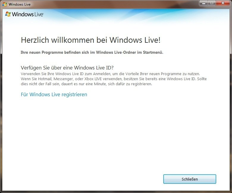 windows live registrieren