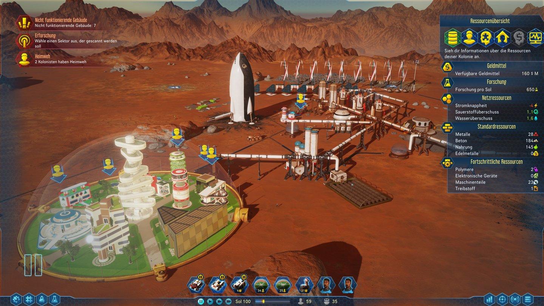 Surviving Mars: Die Städtebau-Simulation im Launch-Trailer