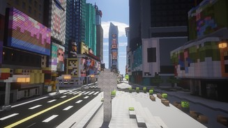 <b>Minecraft</b><br>Der Times Square in Klötchen-Optik