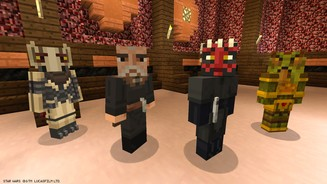 <b>Minecraft</b><br>Screenshots aus dem DLC »Star Wars Prequel Skin Pack«