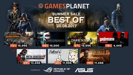 Gamesplanet Summer Sale 2017 - Total War: Warhammer, Wolfenstein und Fallout 4