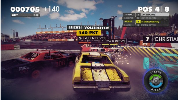 <b>DiRT Showdown</b><br>Nächstenliebe war gestern, zumindest in Dirt Showdown. Beim Destruction Derby zerlegen wir die Kontrahenten durch gezielte Rammattacken.