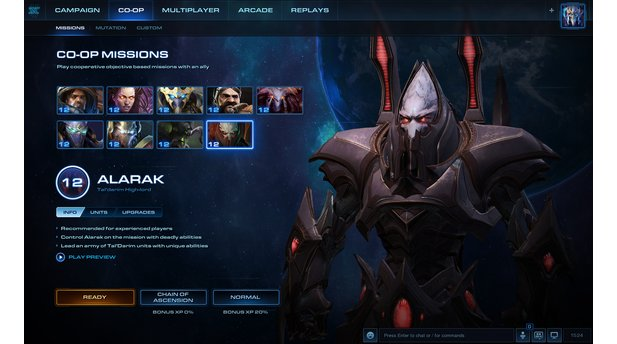 Screenshots zum Update 3.6 mit Commander Alarak