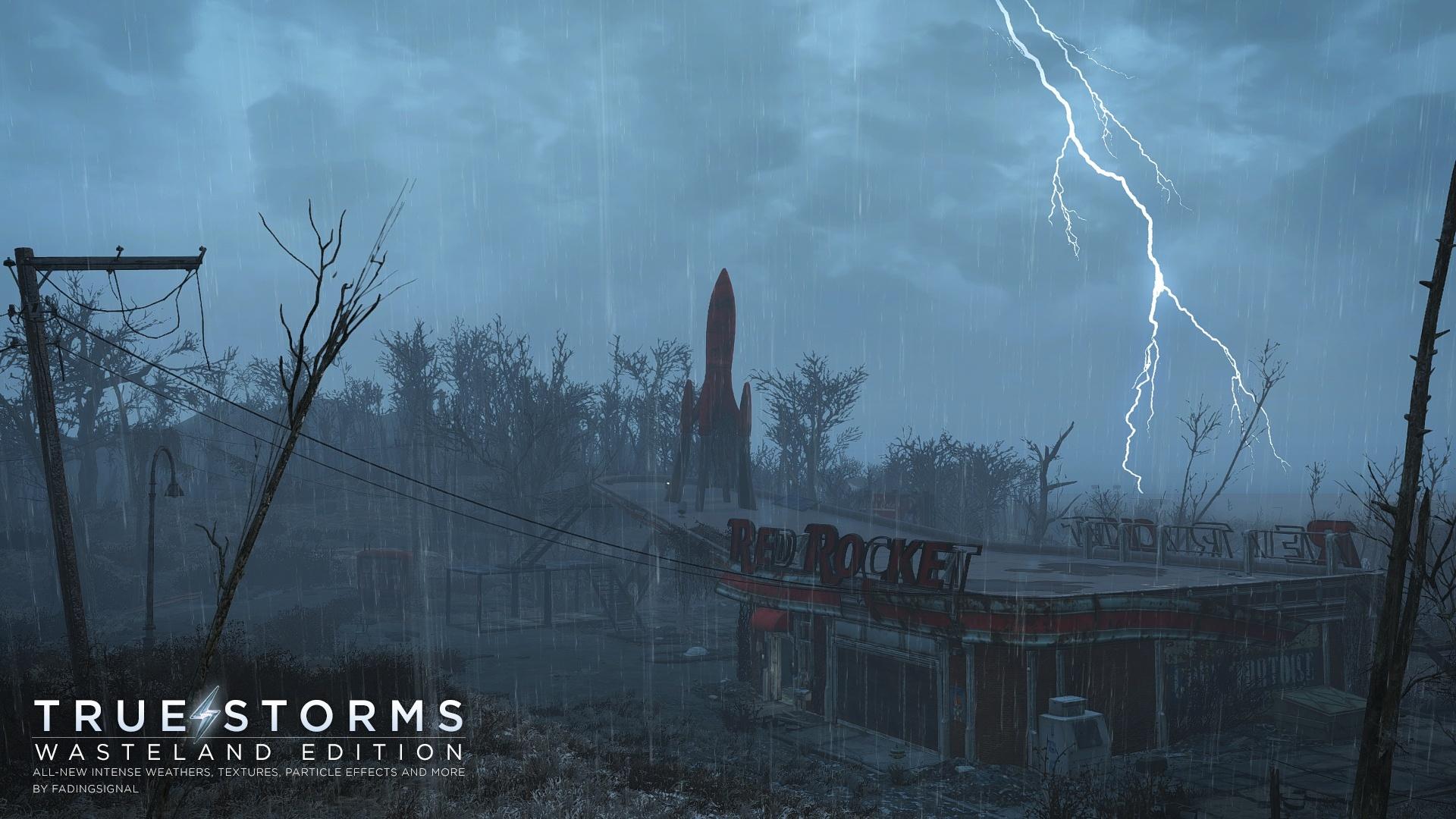 Die Mod True Storms sorgt endlich für furchterregende Stürme im Ödland.