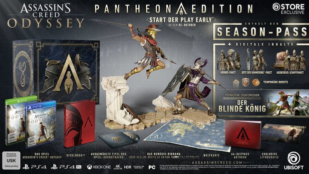 Die Pantheon Edition von Assassin's Creed Odyssey ist die teuerste aller Collector's Editions.