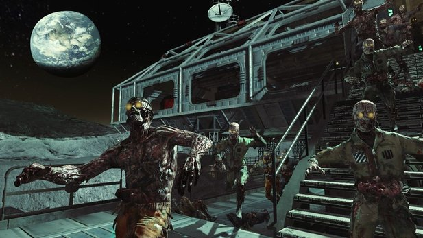 Zombies auf dem Mond - Screenshot aus dem Rezurrection-DLC für Call of Duty: Black Ops