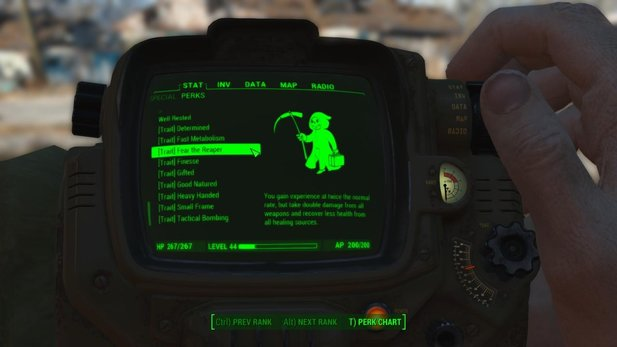 Fallout 4 hat jetzt auch Traits. Der Modifikation »Traits and More Perks« sei Dank.