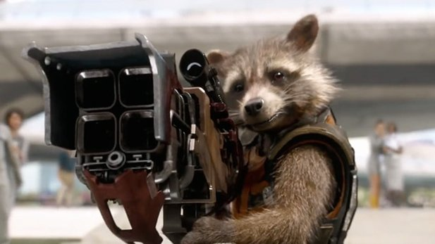 Klein aber oho: Rocket Raccoon von den Guardians Of The Galaxy.