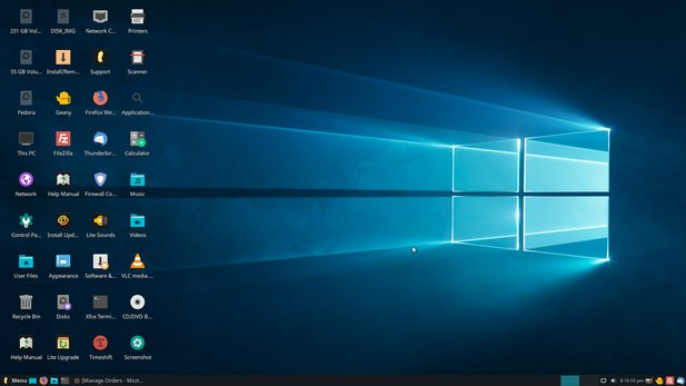With the right background image and a kind of start menu, Linux Lite is reminiscent of Windows 10 at first glance, but the fundamental differences between the operating systems are of course retained.