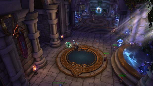 World of Warcraft - Der Portalraum in Sturmwind.