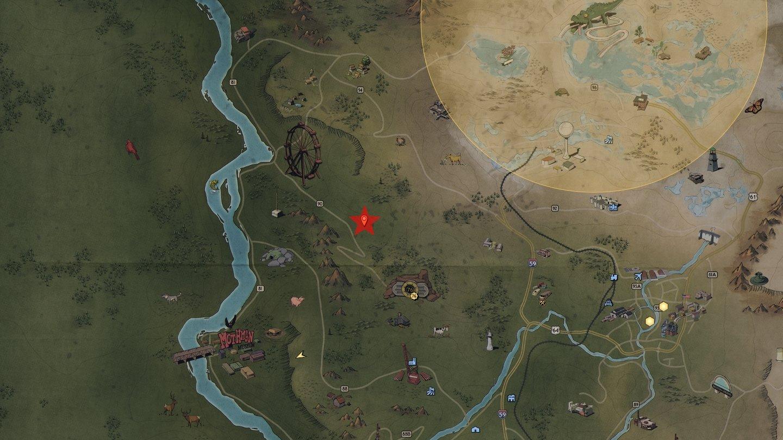 Fallout 76 Komplette Karte.Fallout 76 Waldschatzkarten Die Fundorte Aller Schätze