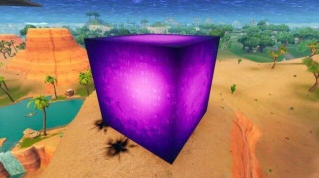 fortnite ist um ein mysterium reicher dieser violette wurfel tauchte auf der map auf - fortnite warfel zeiten