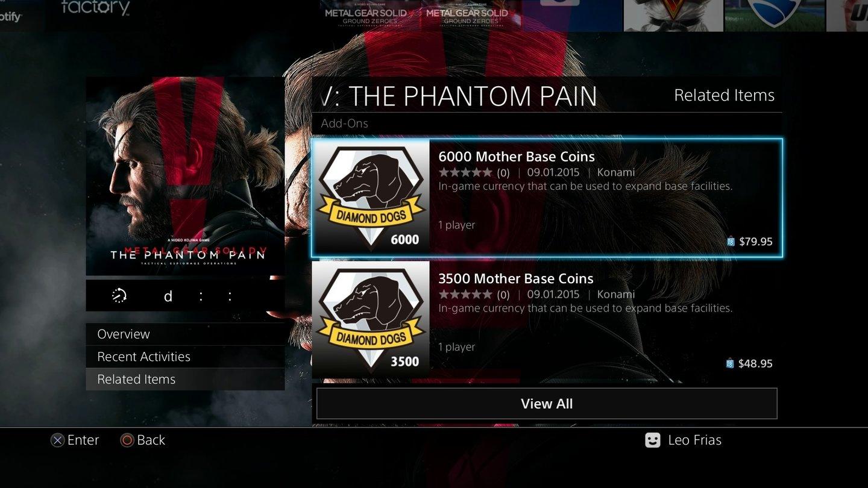 Mgs5 The Phantom Pain Preise Der Echtgeld Währung Für Pvp Modus