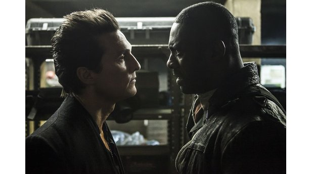 The Dark Tower mit Idris Elba als Revolvermann Roland Deschain und Matthew McConaughey als Man in Black.