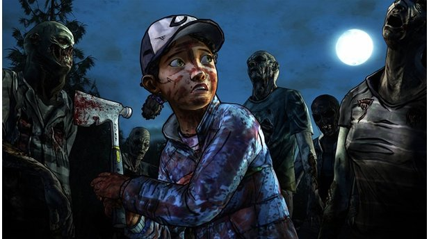 <b>The Walking Dead: Season Two - Episode 4: Amid The Ruins</b><br>Die Episode knüpft direkt an die Flucht-Sequenz am Ende von Folge 3 an.