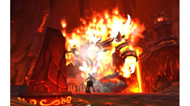 World of Warcraft: CataclysmHyjal: Kampf gegen Ragnaros.
