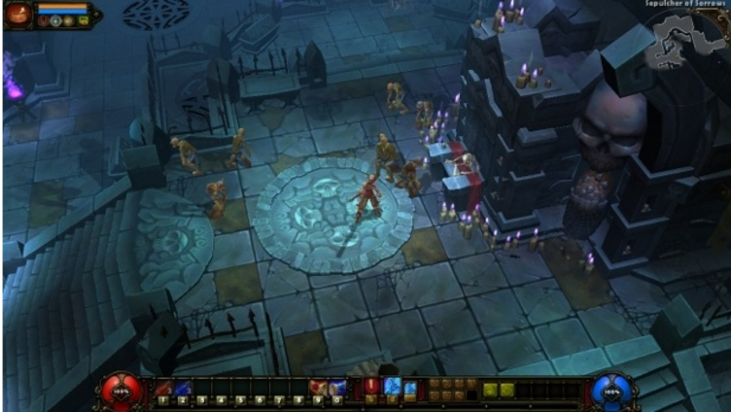 Torchlight 2E3-Screenshot zeigt den Berserker in Aktion