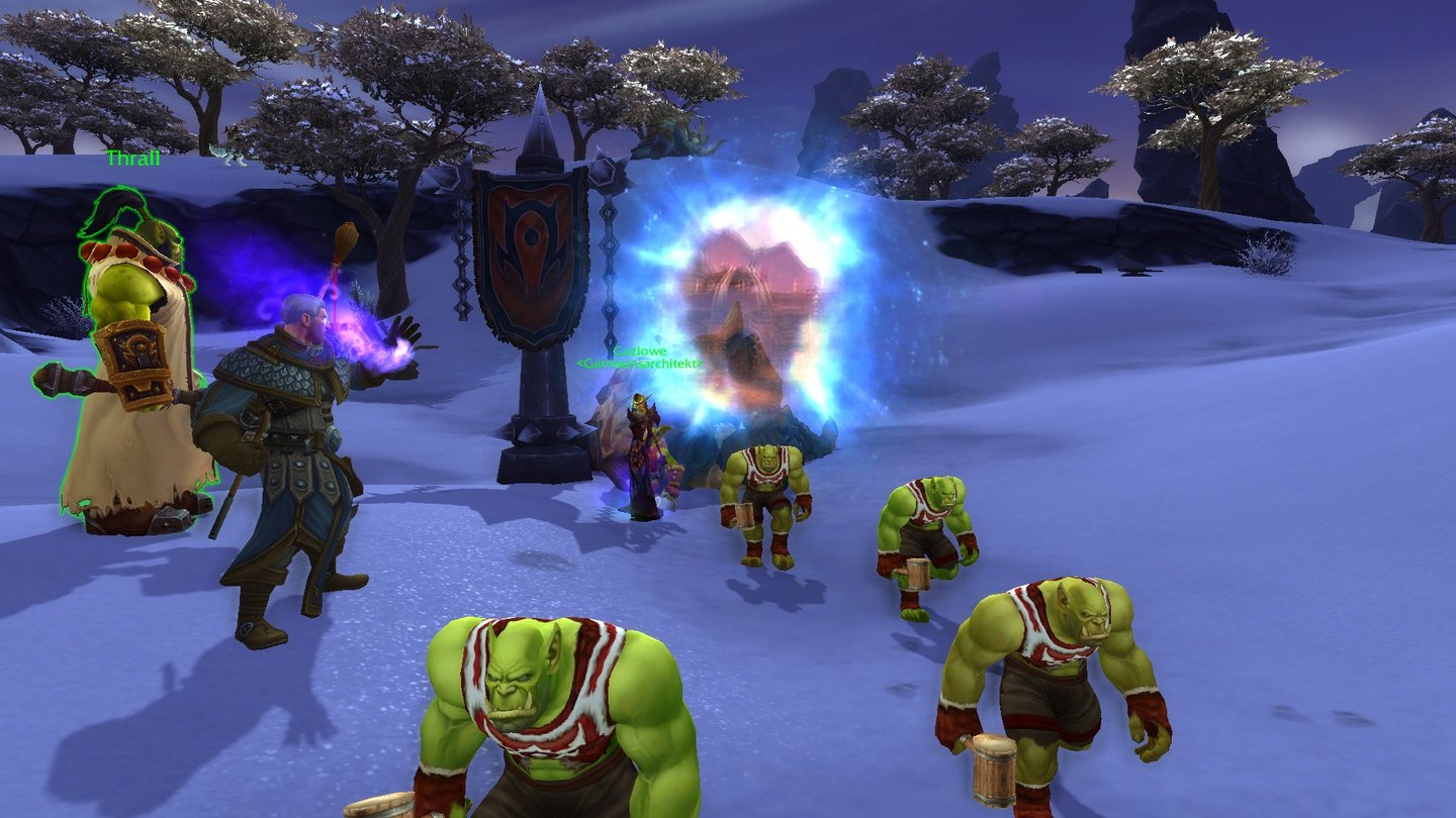 World of Warcraft: Warlords of DraenorHorde-Garnisonen finden hingegen im Frostfeuergrad Platz …