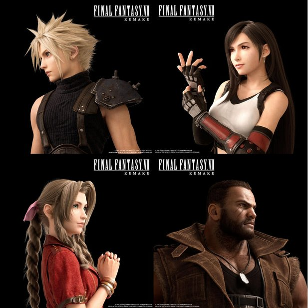 Cloud, Tifa, Aeris und Barret.