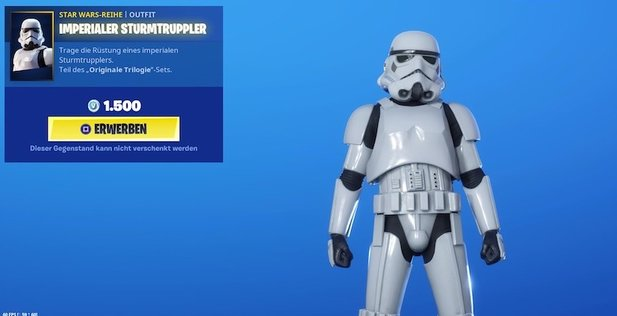 Der Stormtrooper-Skin in Fortnite.
