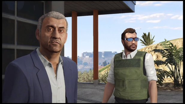 Martin Madrazo aus GTA 5 (links).