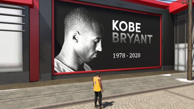 Billboards in NBA 2K20 in Gedenken an Kobe Bryant.