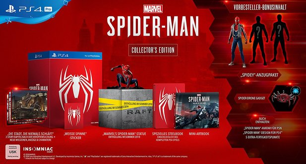Spider-Man Collector's Edition für PS4.