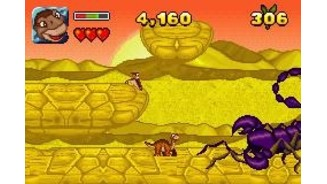 One of the bosses you'll have to fight is this large scorpion
