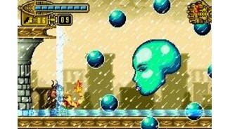 Other boss to defeat: this time, it has a watery aspect and is surrounded by 8 balls. Destroy these balls and continue attacking!