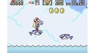 Like 14 years ago, these friendly dolphins help Mario to cross the dangerous sea.