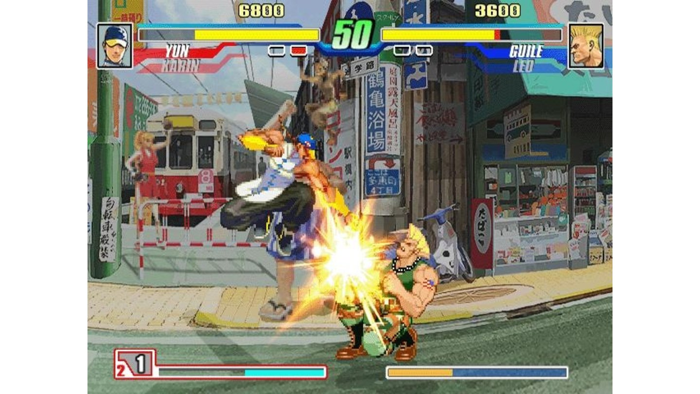Guile takes his punches sitting down.