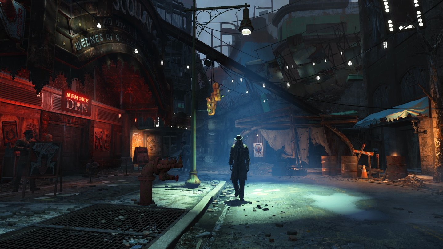 Fallout 4Das Schild links (»Scollay Square«) beweist: Fallout 4 spielt in Boston.