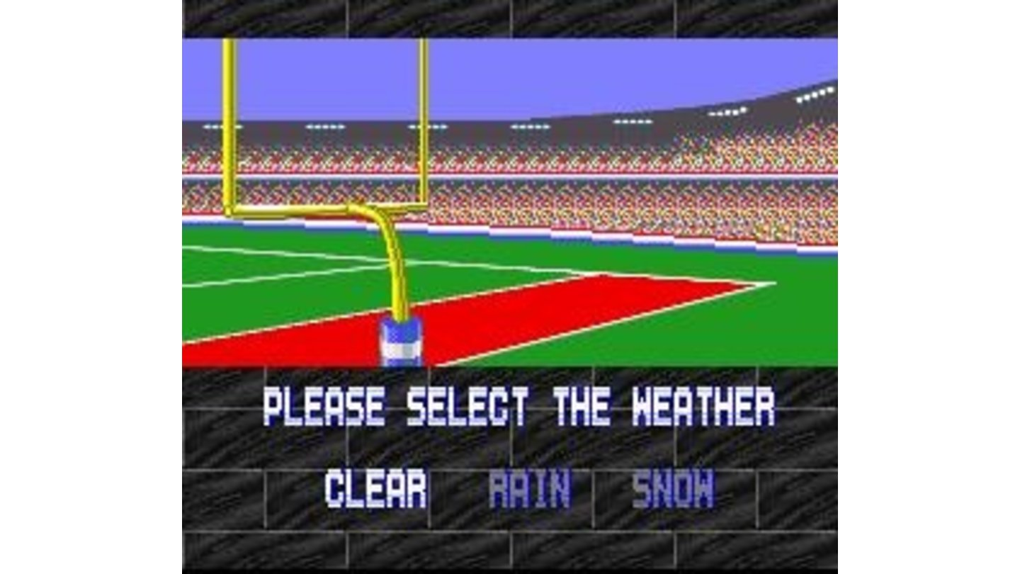 Weather select. This feature is absent in the Genesis version