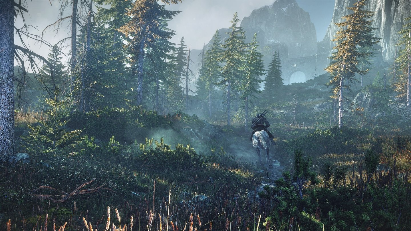 The Witcher 3: Wild HuntHoch zu Ross bereist Geralt die Skellige-Inseln.